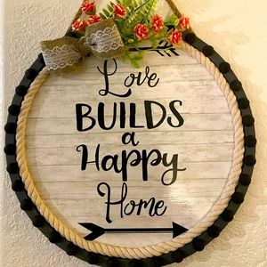 Wall Art - Love Builds A Happy Home